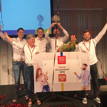 We did it: Accoutant Vast wint Exact Cloud Award 2019!